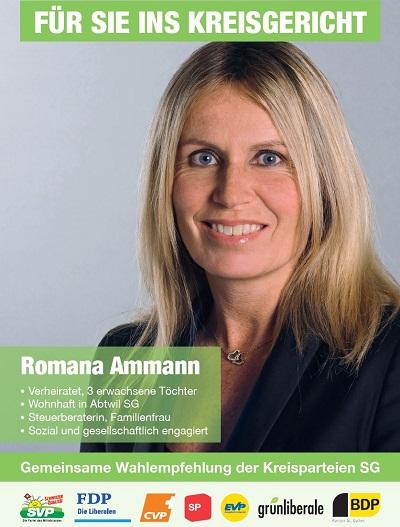 Romana Ammann, Abtwil, als neue Kreisrichterin (Mittwoch, 09.11.2016)
